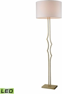 Dimond D3202-LED Groove Contemporary Antique Silver Leaf LED Floor Lamp Lighting