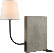 Dimond D3206-LED Sector Contemporary Concrete / Oil Rubbed Bronze LED Table Light