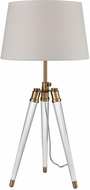 Dimond D3227 Grosvenor Square Aged Brass Clear Side Table Lamp