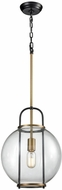 ELK Home D3229 Faraday Modern Aged Brass Black Hanging Lamp