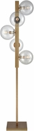 Dimond D3231 Prospect Ave Modern Aged Brass Clear Fluorescent Floor Lamp