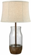 Dimond D3287 Camarillo Wood Stain Clear Outdoor Lighting Table Lamp