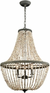ELK Home D3307 C�te des Basques Pebble Grey Natural Shell Hanging Light