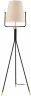 ELK Home D3367 Cromwell Modern Black Brass Floor Lamp Light