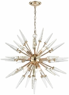 ELK Home D3369 Valkyrie Gold Clear Crystal Chandelier Light