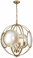 ELK Home D3371 Le Style M�tro Modern Gold Antique Mercury Hanging Chandelier