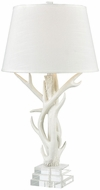 ELK Home D3468 Svalbard Matte White with Clear Crystal Table Lamp Lighting