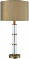 Dimond D3478 Infinitum Clear Crystal Weathered Antique Brass Foyer Lighting