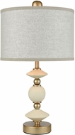 Dimond D3511 Briar Rose Antique Gold And White Lighting Table Lamp
