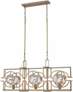Dimond D3552 Lens Flair Matt Gold Kitchen Island Lighting