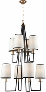 ELK Home D3573 Nico Oil Rubbed Bronze Antique Gold Leaf Chandelier Lamp