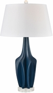 Dimond D3584 Wake Navy Blue With Clear Crystal Side Table Lamp