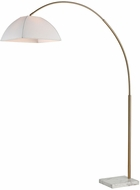 Dimond D3593 Helianthus Modern Aged Brass And White Marble Arc Floor Light