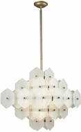 Dimond D3596 Cash Contemporary Antique Silver White Matte Ceiling Light Pendant