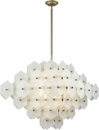 ELK Home D3597 Cash Modern Antique Silver White Matte Ceiling Pendant Light