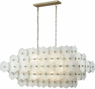 Dimond D3598 Cash Contemporary Antique Silver White Matte Island Light Fixture