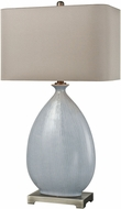 Dimond D3620 Bluelace Light Blue Crackle Ceramic With Pewter Lighting Table Lamp