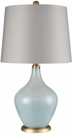 Dimond D3623 Crown Ether Delphinium Blue And Antique Gold Table Top Lamp