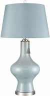 Dimond D3625 Curieuse Eggshell Blue And Polished Nickel Side Table Lamp
