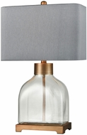 Dimond D3626 Electress Clear Glass With Brushed Antique Gold Table Lamp