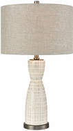 Dimond D3629 Countess Of Cork Off White Glaze And Pewter Table Lighting