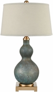 Dimond D3642 Xuclar Cafe Bronze And Shoreline Green Art Glass Table Lamp Lighting