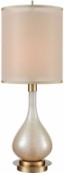 Dimond D3643 Swoon Cafe Bronze And Amber Luster Art Glass Table Top Lamp
