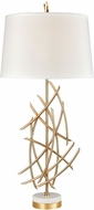 Dimond D3648 Parry Modern Gold Plated Metal And White Marble Table Light