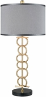 Dimond D3650 Liaison Contemporary Gold Plated Metal And Black Marble Table Lighting