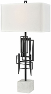 Dimond D3651 Xu Fu Modern Dark Bronze With White Marble Lighting Table Lamp