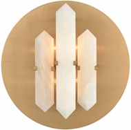 ELK Home D3690 Annees Folles Modern White And Aged Brass Wall Light Fixture