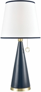 Dimond D3693 Kentucky Downs Contemporary Blue Ceramic With Gold Table Top Lamp