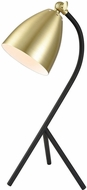 Dimond D3785 Roxanne Moulin Contemporary Satin Brass And Black Table Light