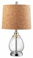 Dimond HGTV142 Transitional 22 Inch Tall Clear Glass Lamp Lighting