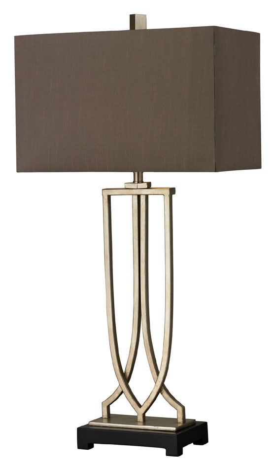 Elk Home Hgtv229 33 Inch Tall Silver Leaf Living Room Table Lamp