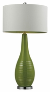 Dimond HGTV272 27 Inch Tall Lime Green Silver Accented Bed Lamp