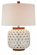 Dimond HGTV346 Bloome White & Wood Tone Finish 26 Tall Table Top Lamp
