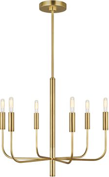 ED Ellen DeGeneres EC1006BBS Brianna Contemporary Burnished Brass Chandelier Lighting