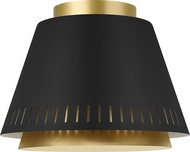 ED Ellen DeGeneres EF1011MBK Carter Modern Midnight Black / Burnished Brass Home Ceiling Lighting