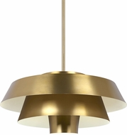 ED Ellen DeGeneres EP1021BBS Brisbin Contemporary Burnished Brass / Matte White Drop Ceiling Light Fixture