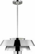 ED Ellen DeGeneres EP1021PN Brisbin Contemporary Polished Nickel / Matte White Pendant Lighting