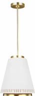 ED Ellen DeGeneres EP1041MWT Carter Contemporary Matte White / Burnished Brass Lighting Pendant