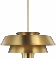 ED Ellen DeGeneres EP1081BBS Brisbin Modern Burnished Brass / Matte White Pendant Lighting Fixture
