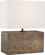 ED Ellen DeGeneres ET1081WDO1 Redmond Contemporary Weathered Oak Wood / Aged Pewter Side Table Lamp