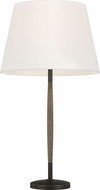 ED Ellen DeGeneres ET1161WDO1 Ferrelli Weathered Oak Wood / Aged Pewter Lighting Table Lamp
