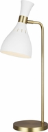 ED Ellen DeGeneres ET1171MWT1 Joan Modern Matte White / Burnished Brass Reading Light