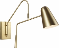 ED Ellen DeGeneres EW1041BBS Simon Modern Burnished Brass / Burnished Brass Wall Swing Arm Lamp