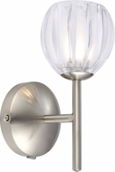 EGLO 200579A Lorcasa Modern Matte Nickel Halogen Wall Sconce Lighting