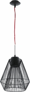 EGLO 200844A Piastre Contemporary Black Halogen Pendant Lighting
