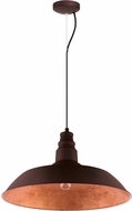 EGLO 201605A Somerton 2 Contemporary Chocolate Brown w/ Gold Interior Pendant Hanging Light